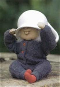 Billede af Nissebarn i grå sparkedragt (den med potten på hovedet)