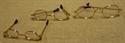 Billede af Briller ovale m. guldstel og plastglas til 50 cm. nisse