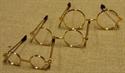 Billede af Briller runde m.guldstel og plastglas (til 28 cm nisser )