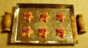 Billede af Bageplade med kager - julestjerne