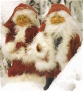 Billede af Julemanden og hans kone m/boa 40 cm
