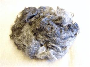 Billede af Krøllet uld, mørkgrå