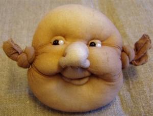 Billede af Færdigsyet smilende ansigt 40/50 cm.