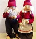 Billede af Færdigsyede nisser 40 cm. Åge og Ida