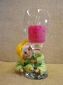 Billede af færdigsyet forårsbarn på glas