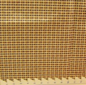Billede af Småternet bomuld råhvid/blå/brun