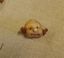 Billede af Færdigsyet barneansigt 28cm.m.åben mund