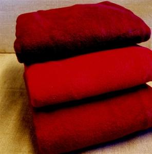 Billede af Rød fleece, stof til bl.a.nissehuer