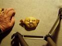 Billede af Færdigsyet nisserik ansigt 30/35cm.Sovende