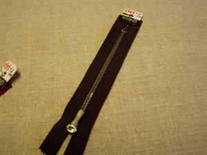 Billede af Brun lynlås 12 cm.