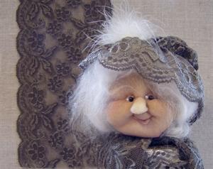 Billede af blondeelastik 15 cm. mørk beige