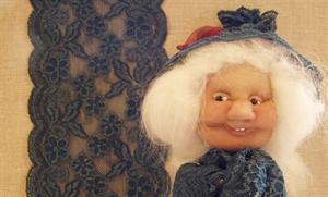 Billede af blondeelastik 15 cm.blå
