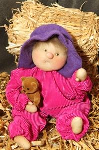 Billede af Nem dukke 30 cm. pink