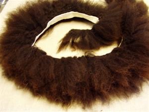 Billede af Brun tyk pelsstrimmel ca. 10 cm. lang