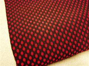 Billede af Sort med røde prikker